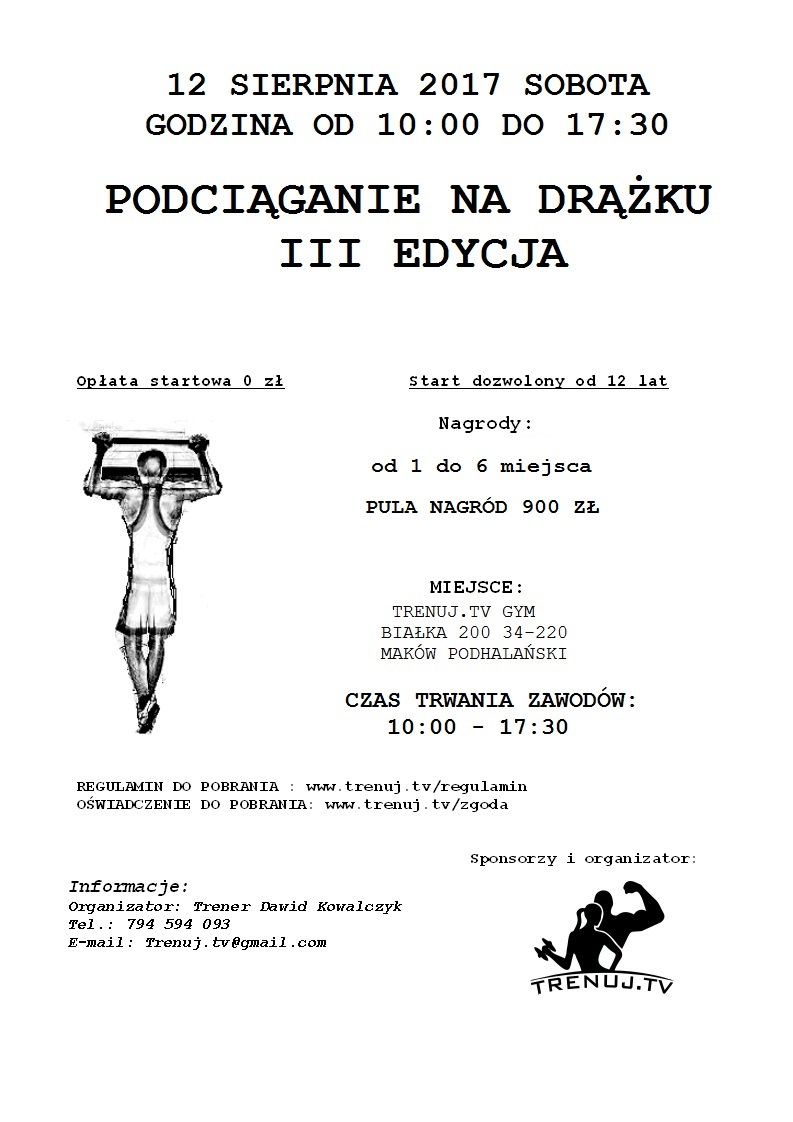 plakat zawody